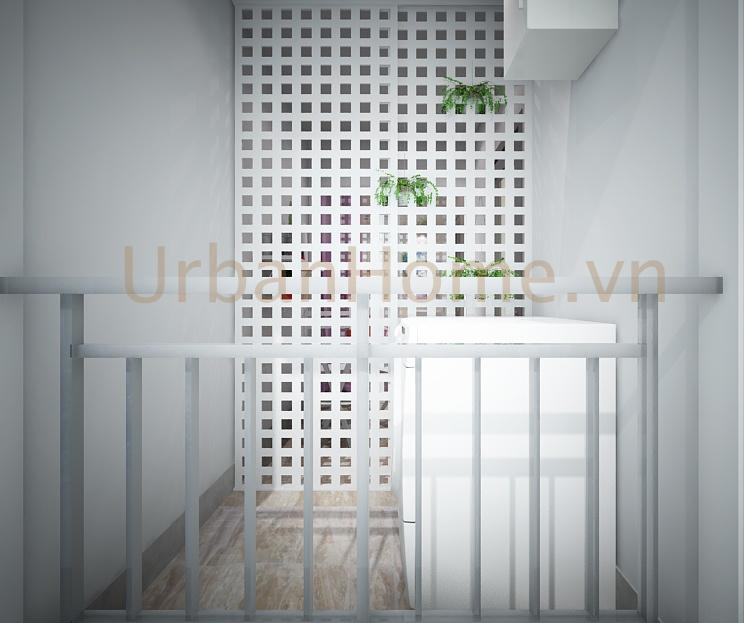 Thiết kế chung cư: Balcony cũng được chau chuốt khá kỹ lưỡng