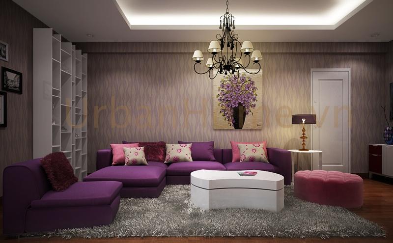 Thiết kế căn hộ chung cư: Phòng khách là nơi sinh hoạt nhiều nhất, nên diên tích dành cho phòng này cũng được ưu tiên hơn: