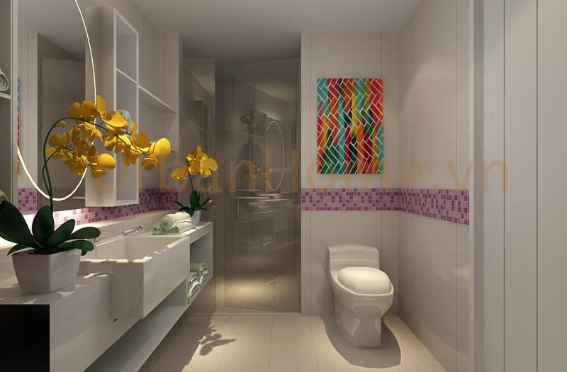 Thiết kế chung cư: Toilet cũng được chau chuốt khá kỹ lưỡng