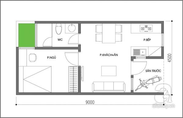 Tư vấn thiết kế nhà cấp 40m2, thiết kế nội thất, trang trí nội thất