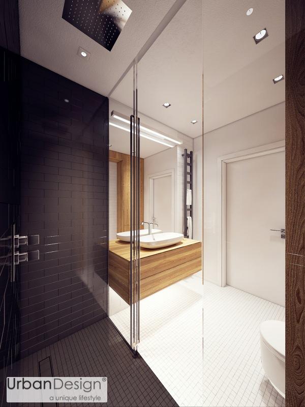 Phòng tắm vẫn tỏa sáng dù sắc màu đơn giản